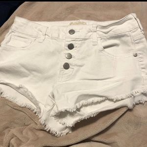 white denim altar'd state shorts